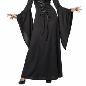 California Costumes Dresses - California Costumes Deluxe Hooded Robe Black